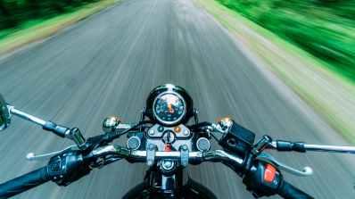 black motorcycle on road